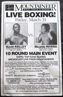 KELLEY, KEVIN-RICARDO RIVERA SIGNED ON SITE POSTER (1995-SIGNED BY KELLEY, RIVERA & MICHAEL BUFFER)
