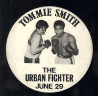 ALI, MUHAMMAD-TOMMIE SMITH URBAN FIGHTER VINTAGE PIN (1979)