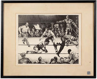 "LOUIS, JOE-MAX SCHMELING II ""FIRST ROUND KNOCKOUT ARTWORK (BY JOSEPH GOLINKIN)"