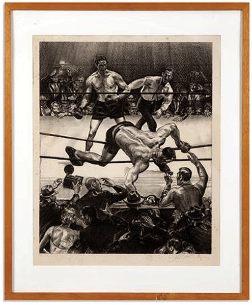 "BAER, MAX-PRIMO CARNERA ""PRIMO ON THE ROPES"" ARTWORK (BY JOSEPH GOLINKIN)"