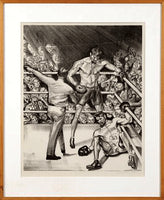 "DEMPSEY, JACK-GENE TUNNEY ""THE LONG COUNT"" ARTWORK (BY JOSEPH GOLINKIN)"