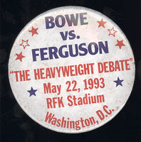 BOWE, RIDDICK-JESSE FERGUSON & ROY JONES, JR.-BERNARD HOPKINS SOUVENIR PIN (1993)