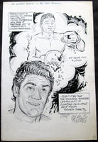 PATTERSON, FLOYD-OSCAR BONAVENA ORIGINAL CARTOON ART BY PHIL BISSELL (1972)