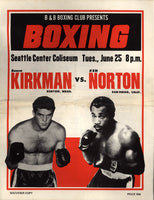 NORTON, KEN-BOONE KIRKMAN OFFICIAL PROGRAM (1974)