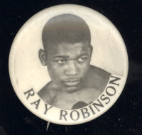 ROBINSON, SUGAR RAY SOUVENIR PIN (EARLY 1940'S)