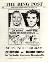 BROWN, JOE-JOHNNY BUSSO OFFICIAL PROGRAM (1959)