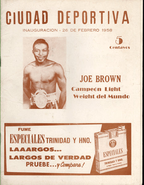 BROWN, JOE-ORLANDO ECHEVARRIA OFFICIAL PROGRAM (1958)