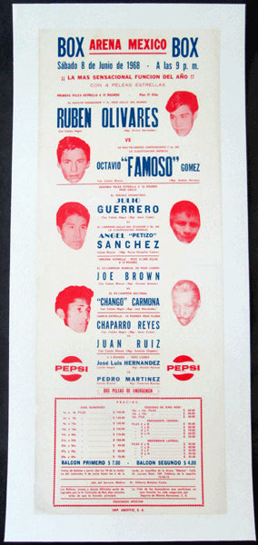 OLIVARES, RUBEN-OCTAVIO GOMEZ & JOE BROWN-CHANGO CARMONA ON SITE POSTER (1968)