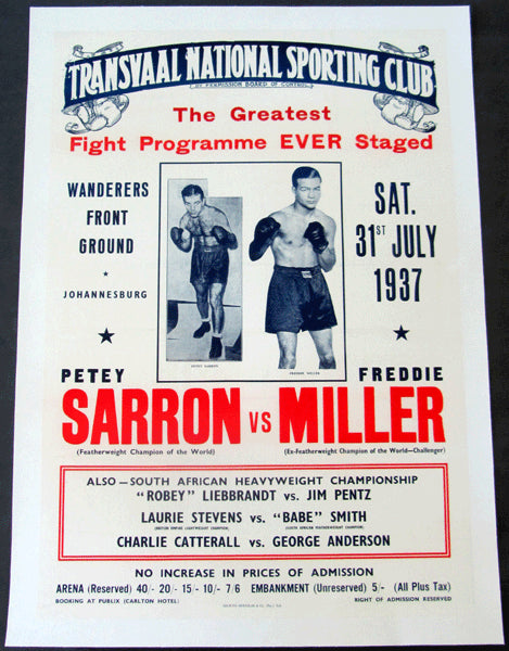 SARRON, PETEY-FREDDY MILLER ORIGINAL ON SITE POSTER (1937)