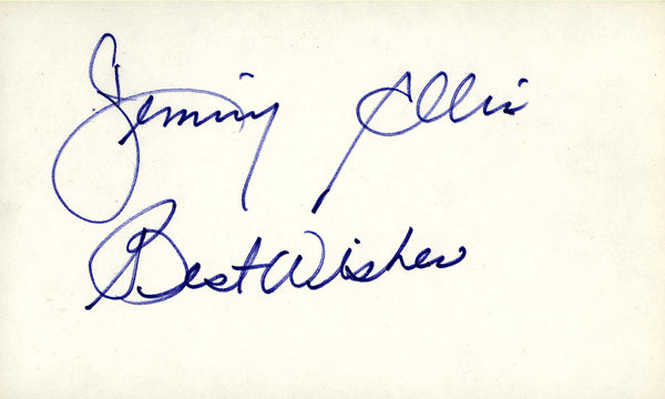 ELLIS, JIMMY SIGNED INDEX CARD
