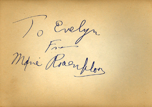 ROSENBLOOM, MAXIE INK SIGNATURE