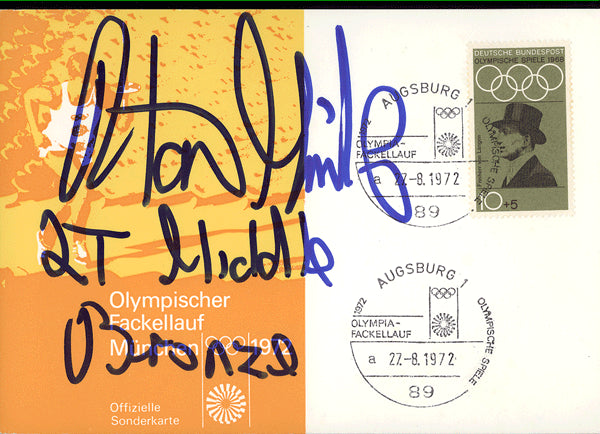 MINTER, ALAN SIGNED FIRST DAY COVER (1972)