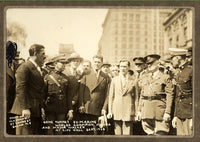 TUNNEY, GENE & MAYOR WALKER MOUNTED PHOTO (1926-SHORTLY AFTER WINNING TITLE)