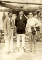 TUNNEY, GENE TRAINING WIRE PHOTO (1926-PREPARING FOR JACK DEMPSEY)