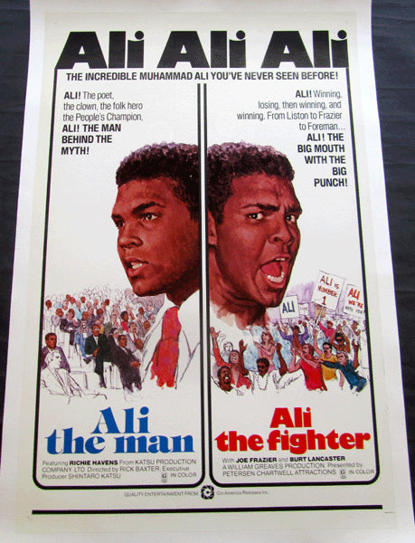 """ALI THE MAN, ALI THE FIGHTER"" ORIGINAL FILM POSTER (1975)"