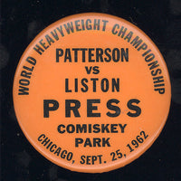 LISTON, SONNY-FLOYD PATTERSON I PRESS PIN (1962)
