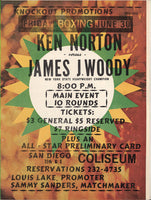 NORTON, KEN-JAMES WOODY OFFICIAL PROGRAM (1972)