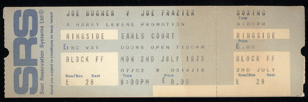 FRAZIER, JOE-JOE BUGNER FULL TICKET (1973)