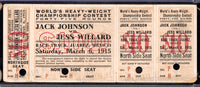 JOHNSON, JACK-JESS WILLARD FULL TICKET (POSTPONED 1915 DATE IN MEXICO)