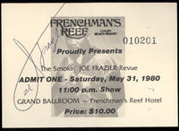 FRAZIER, JOE REVUE SIGNED FULL TICKET (1980)