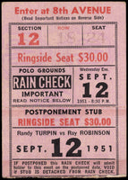 ROBINSON, SUGAR RAY-RANDY TURPIN II TICKET STUB (1951)