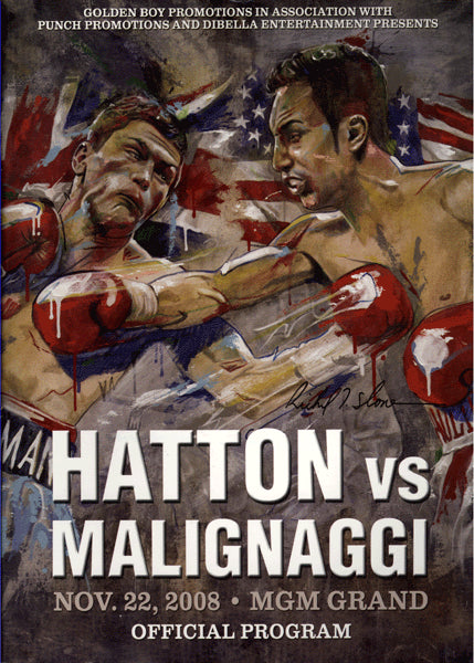 HATTON, RICKY-PAULIE MALIGNAGGI OFFICIAL PROGRAM (2008)