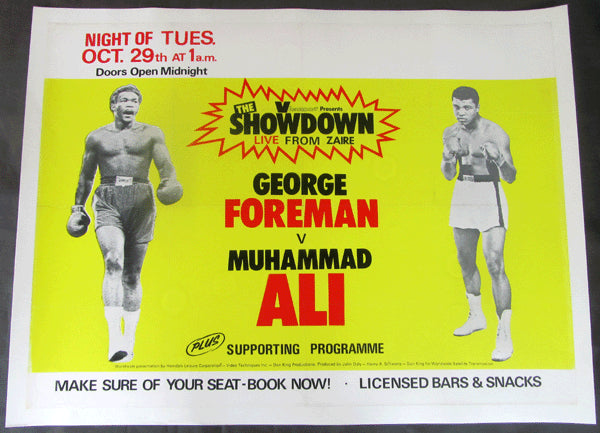 ALI, MUHAMMAD-GEORGE FOREMAN CLOSED CIRCUIT POSTER (1974)