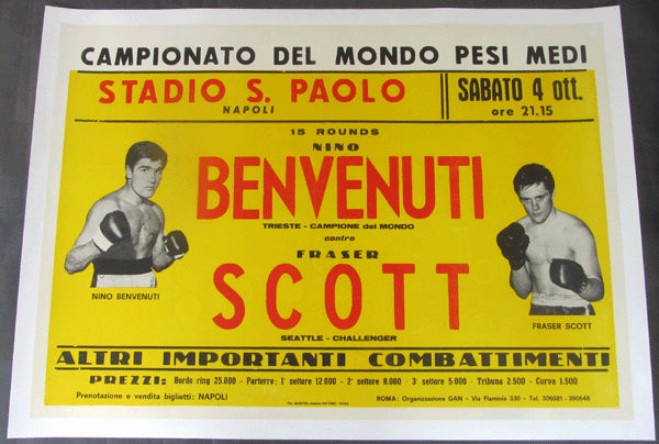 BENVENUTI, NINO-FRASER SCOTT ORIGINAL ON SITE POSTER (1969)