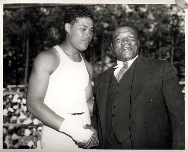 LANGFORD, SAM & JOE LOUIS WIRE PHOTO