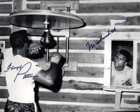 ALI, MUHAMMAD & FLOYD PATTERSON SIGNED PHOTO (JSA AUTHENTICATED)