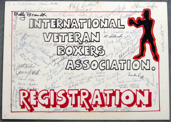 VETERAN BOXERS ASSOCIATION SIGNED POSTER (JEFFRA, FUTCH, GAVILAN, OVER 40)