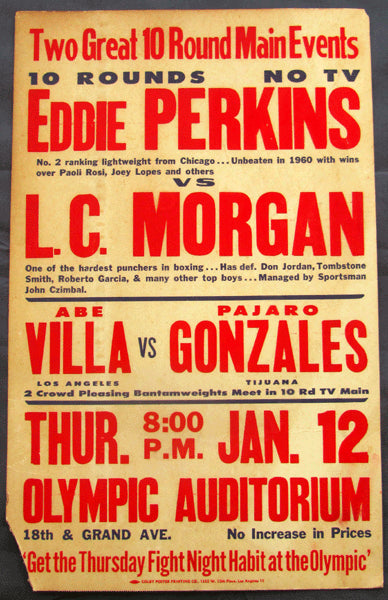 PERKINS, EDDIE-L. C. MORGAN ON SITE POSTER (1961)