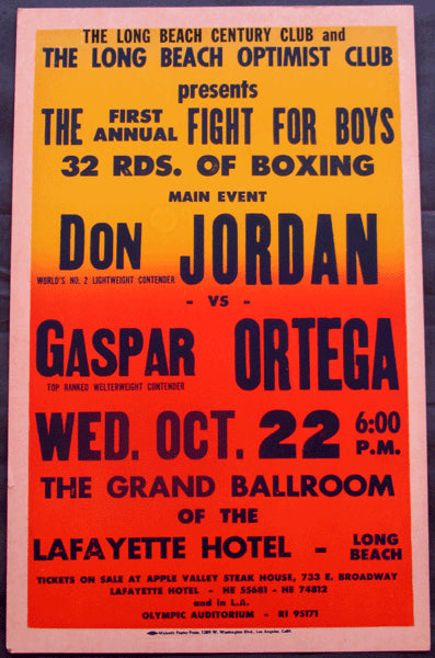 JORDAN, DON-GASPAR ORTEGA ON SITE POSTER (1958)