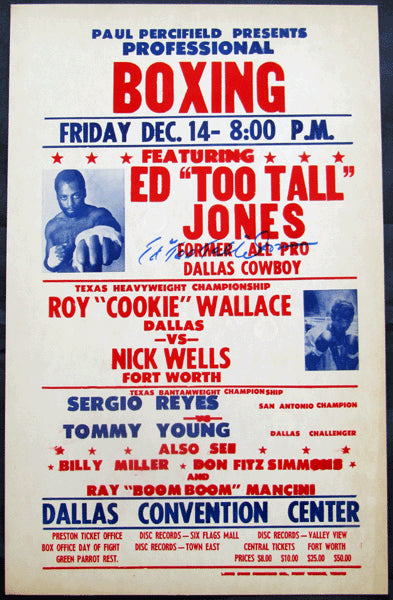 "JONES, ED ""TOO TALL""""-JIMMY WALLACE ON SITE POSTER (1979-SIGNED BY JONES)"