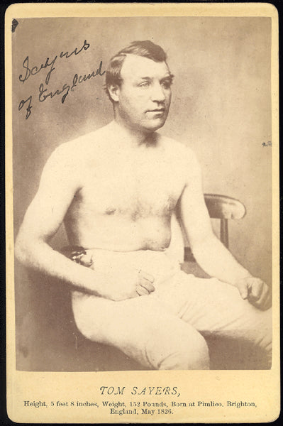 SAYERS, TOM CABINET CARD