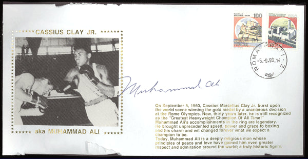 ALI, MUHAMMAD SIGNED FIRST DAY COVER (1990)