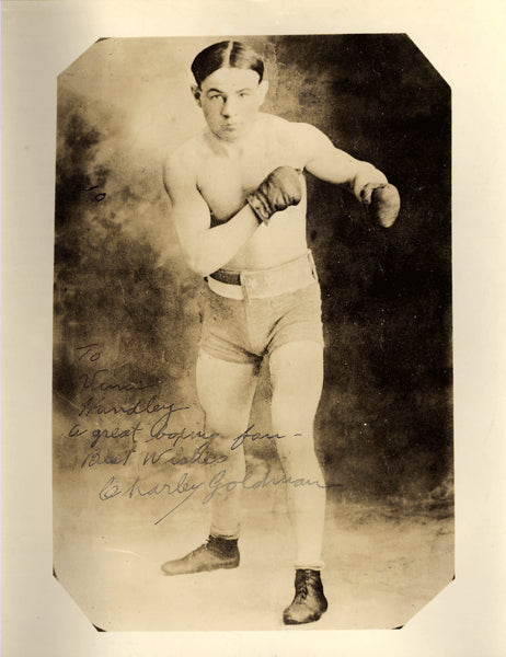 GOLDMAN, CHARLEY SIGNED PHOTO (AS FIGHTER)