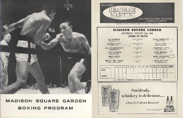 "GRIFFITH, EMILE-BENNY ""KID"" PARET OFFICIAL PROGRAM (1962-PARET'S LAST FIGHT-SIGNED BY GRIFFITH)"
