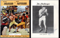 JOHANSSON, INGEMAR-FLOYD PATTERSON I OFFICIAL PROGRAM (1959-SIGNED BY BOTH)