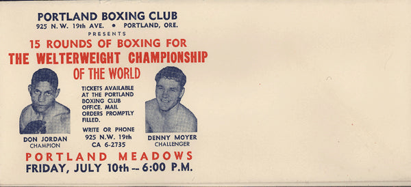 JORDAN, DON-DENNY MOYER FIGHT ENVELOPE (1959)