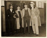 LEONARD, BENNY ANTIQUE PHOTO (POSING WITH KEARNS< RUNYON & HAYES)