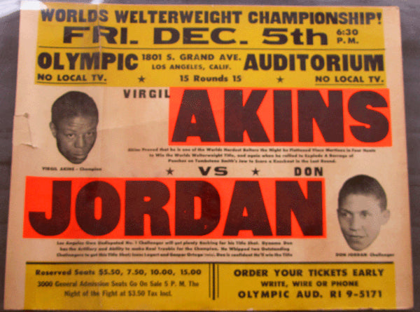 JORDAN, DON-VIRGIL AKINS I ON SITE POSTER (1958)