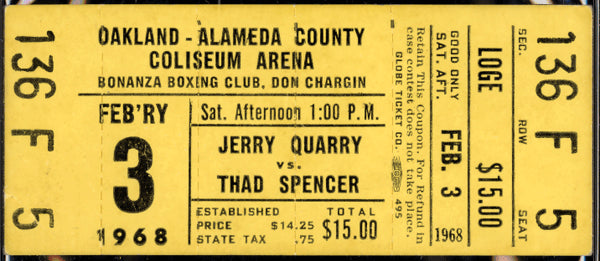QUARRY, JERRY-THAD SPENCER FULL TICKET (1968-TITLE ELIMINATOR)