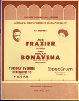 FRAZIER, JOE-OSCAR BONAVENA II OFFICIAL PROGRAM (1968)