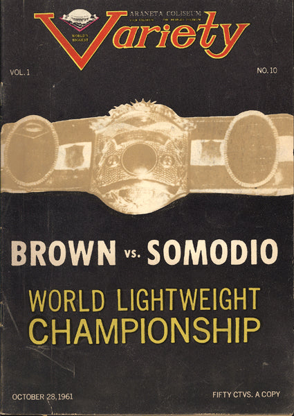 BROWN, JOE-BERT SOMODIO OFFICIAL PROGRAM (1961)
