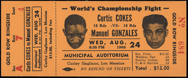 COKES, CURTIS-MANUEL GONZALES FULL TICKET (1966)