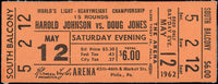 JOHNSON, HAROLD-DOUG JONES FULL TICKET (1962)