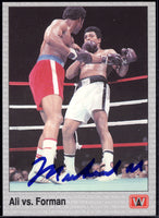 ALI, MUHAMMAD SIGNED AW BOXING CARD (1991)