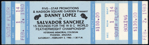 "SANCHEZ, SALVADOR-DANNY ""LITTLE RED"" LOPEZ I FULL TICKET (1980)"