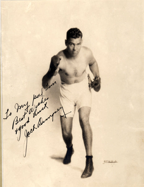 DEMPSEY, JACK SIGNED PHOTO (VINTAGE 1920'S)